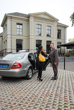 Taxi richting ziekenhuis